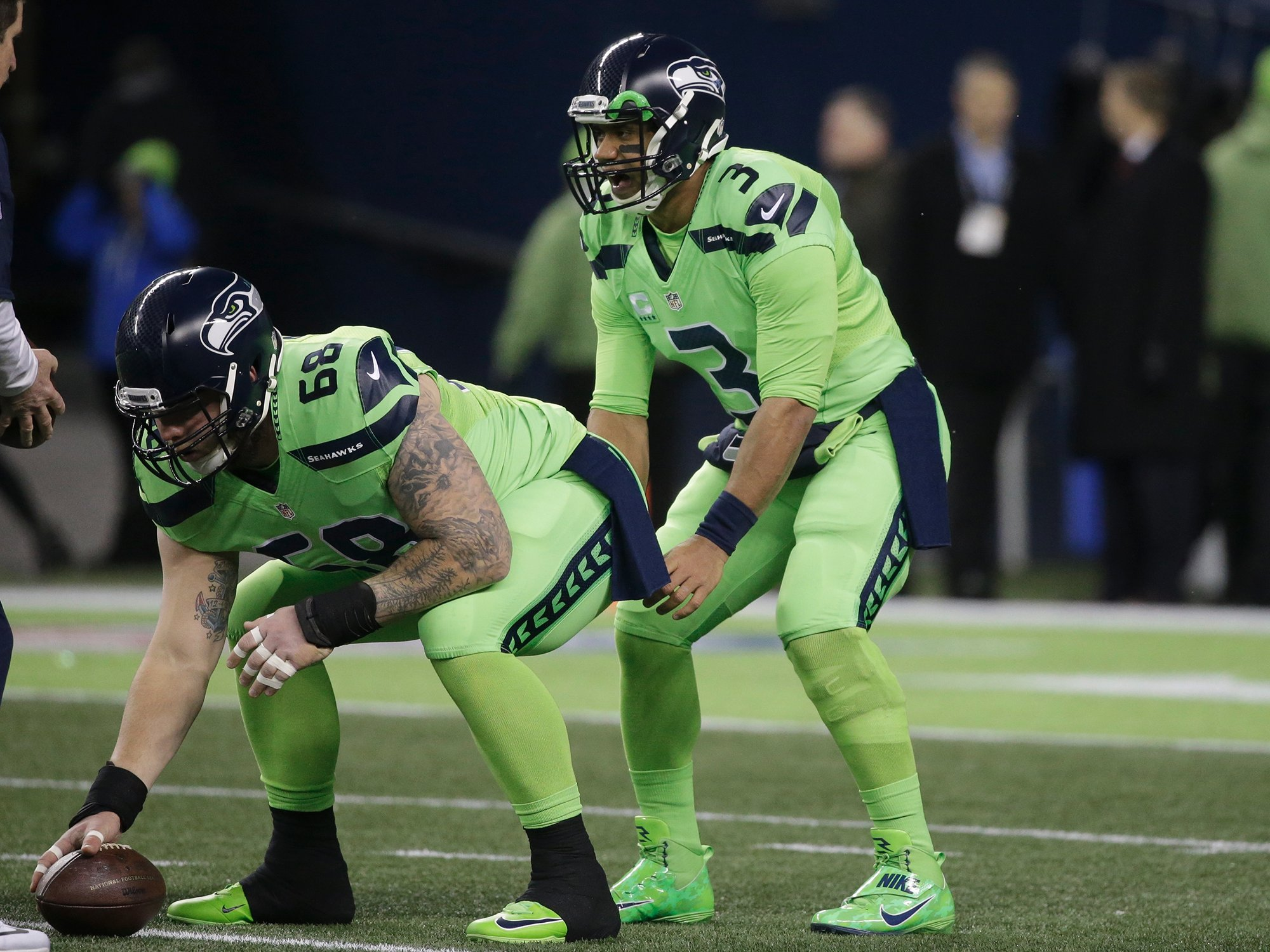 7a5d824a254 The Seattle Seahawks are wearing the craziest NFL 'Color Rush' uniforms yet