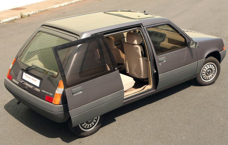 there was once a renault le car concept with sliding doors techkee